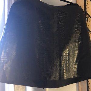 Black Leather Express Skirt